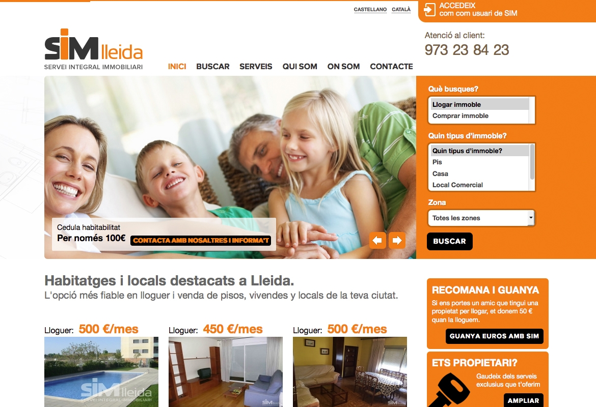 web and and inmobiliaria: